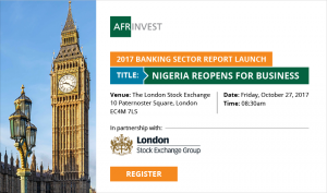 Afrinvest Nigerian 2017 Banking Sector Report Launch